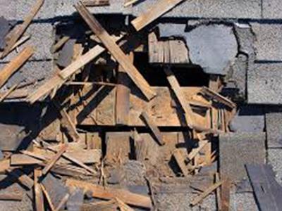 dépannages et réparation de toiture endommagée