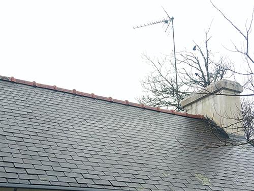contrôler le faîtage de la toiture